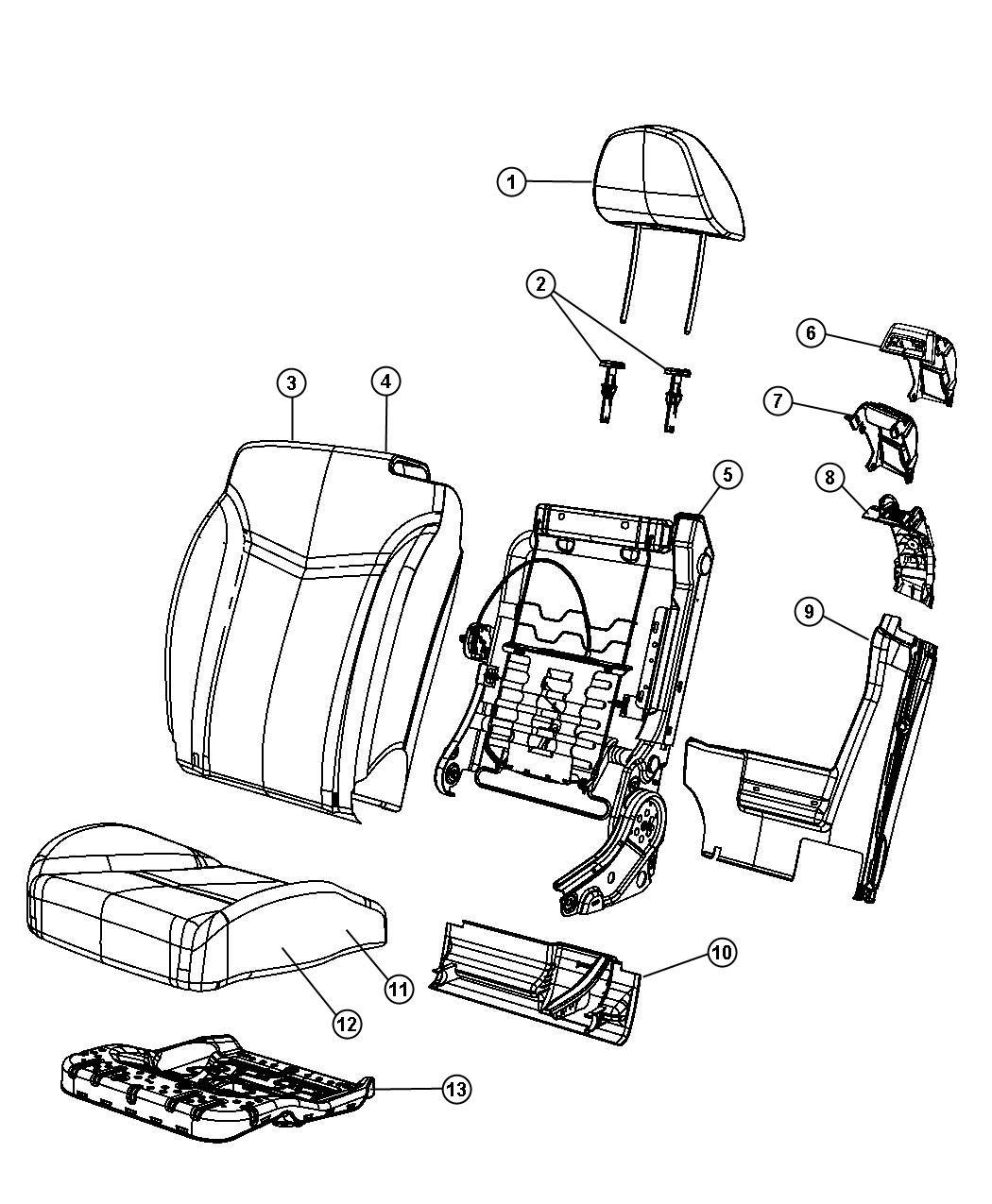 Chrysler Sebring Cover Seat Belt Trim Leather