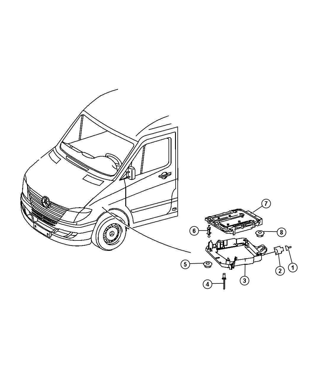Dodge Sprinter Module Powertrain Control After