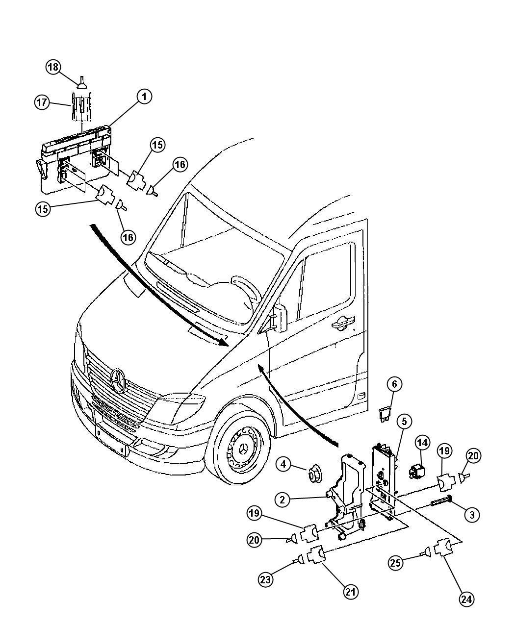 Dodge Sprinter Module Body Controller Modules