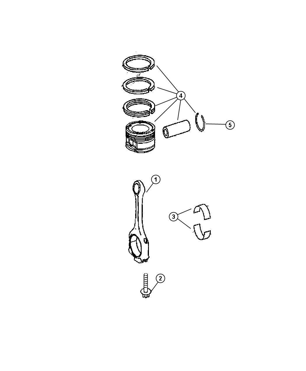 Dodge Sprinter Bearing Connecting Rod Piston Engine Crankshaft