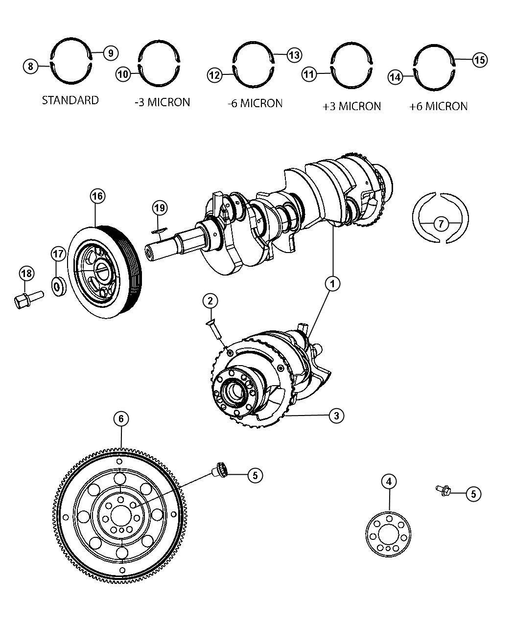 Chrysler Sebring Crankshaft Kit Crankshaft Package
