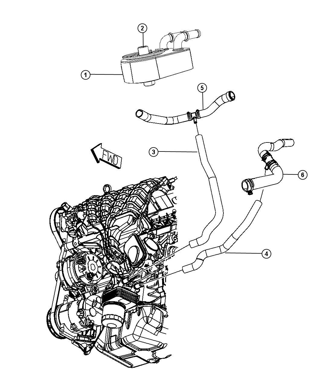 Dodge Journey Hose Radiator Outlet Nha With