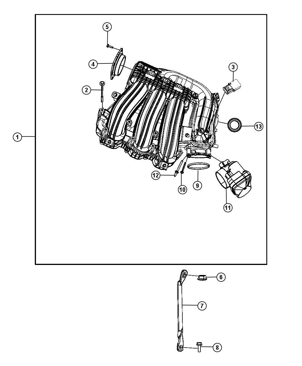 Dodge Avenger Seal Egr Tube W Plastic Manifold