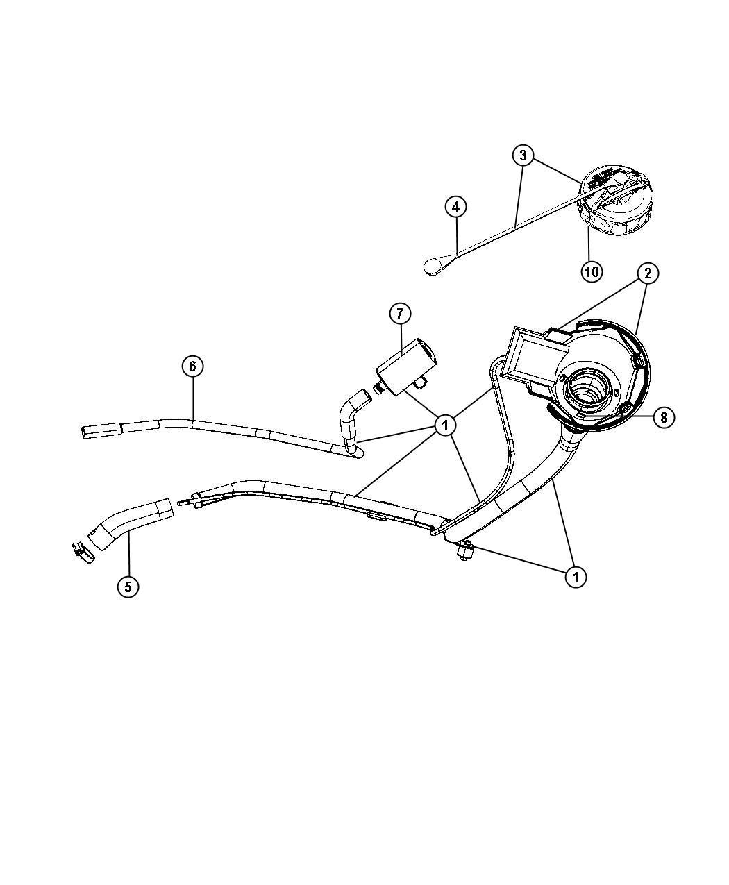 Dodge Durango Cap Fuel Filler Xkn Flexible Flex