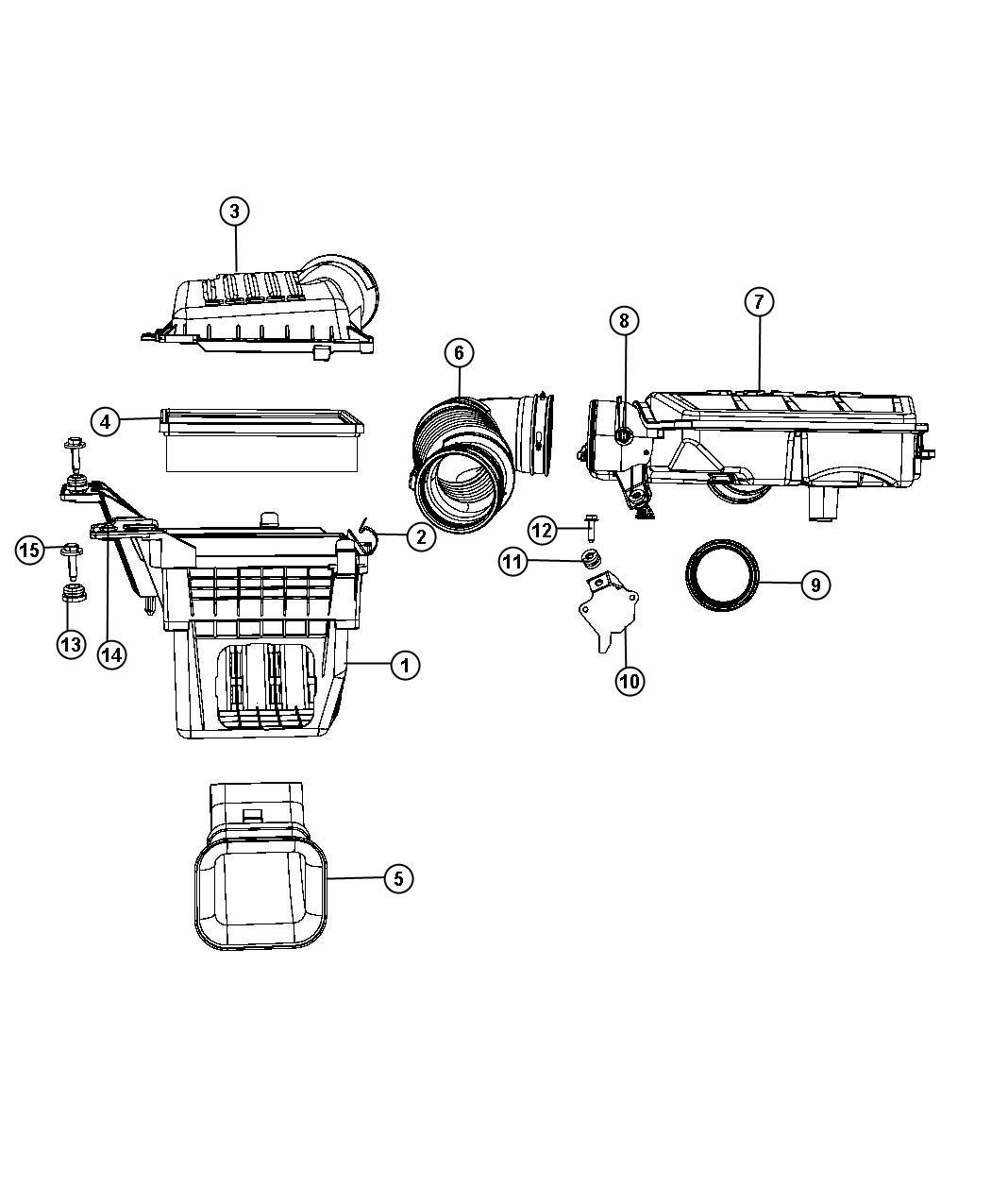 Dodge Durango Seal Air Cleaner 3 6l V6 Vvt Engine