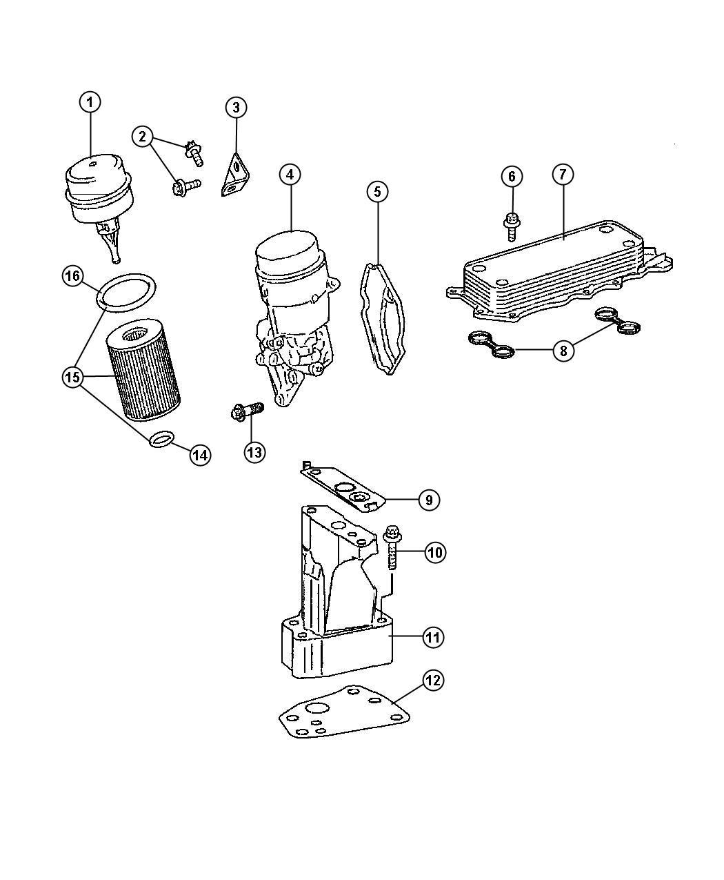 Jeep Compass Gasket Turbocharger Turbo Bracket