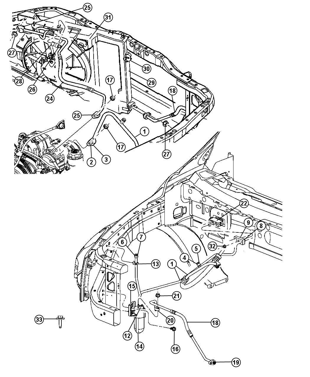 Dodge Durango Condenser Air Conditioning Plumbing