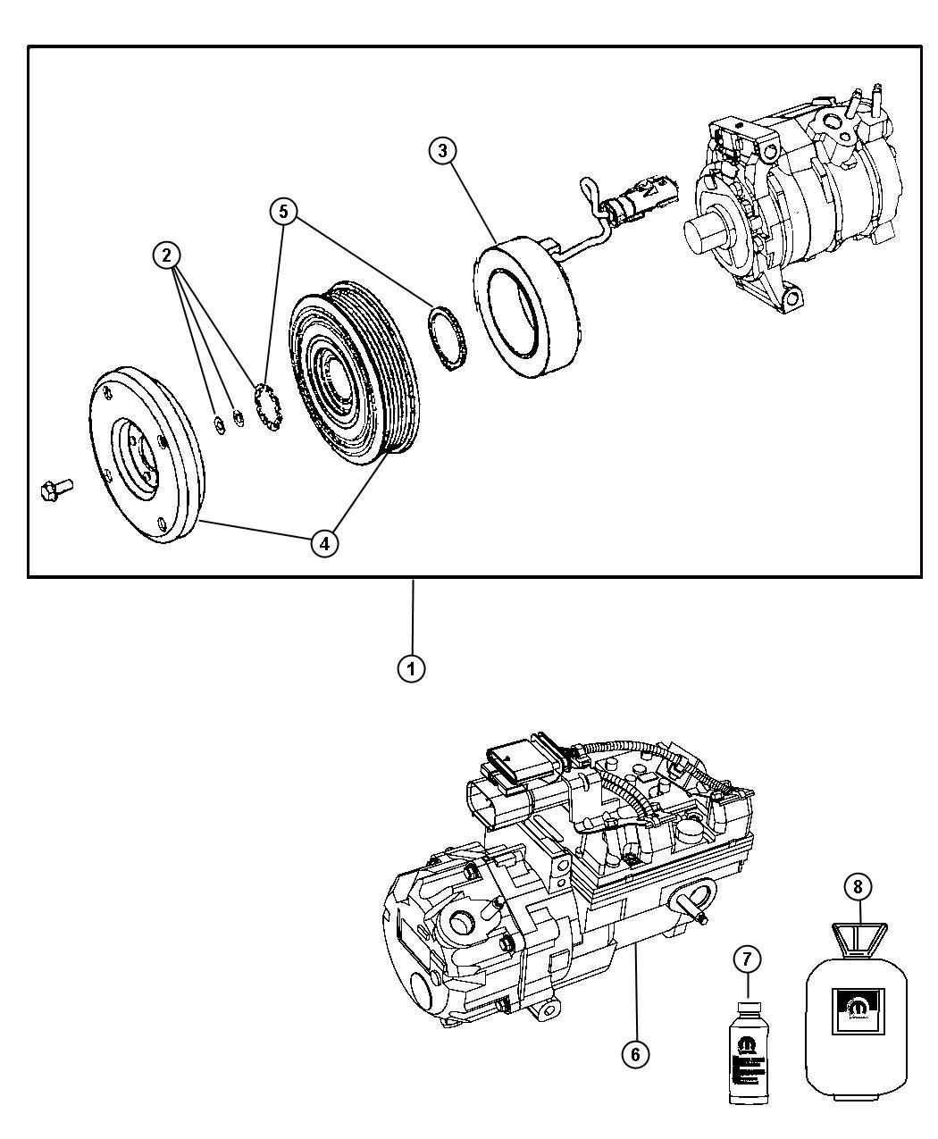 Dodge Durango Compressor Air Conditioning