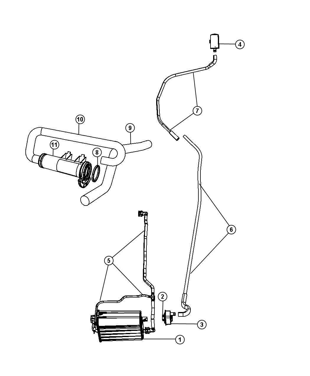 Chrysler Aspen Canister Vapor Fuel Detection Pump