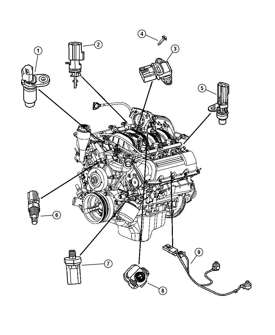 Jeep Grand Cherokee Sensor Coolant Temperature Engine Oil Cooler