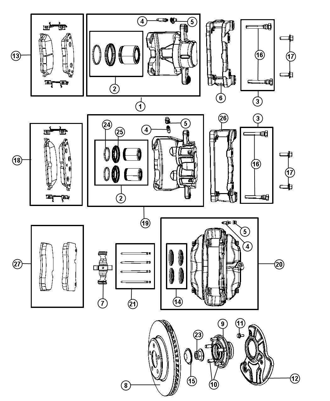 Dodge Charger Pad Kit Front Disc Brake Brakes