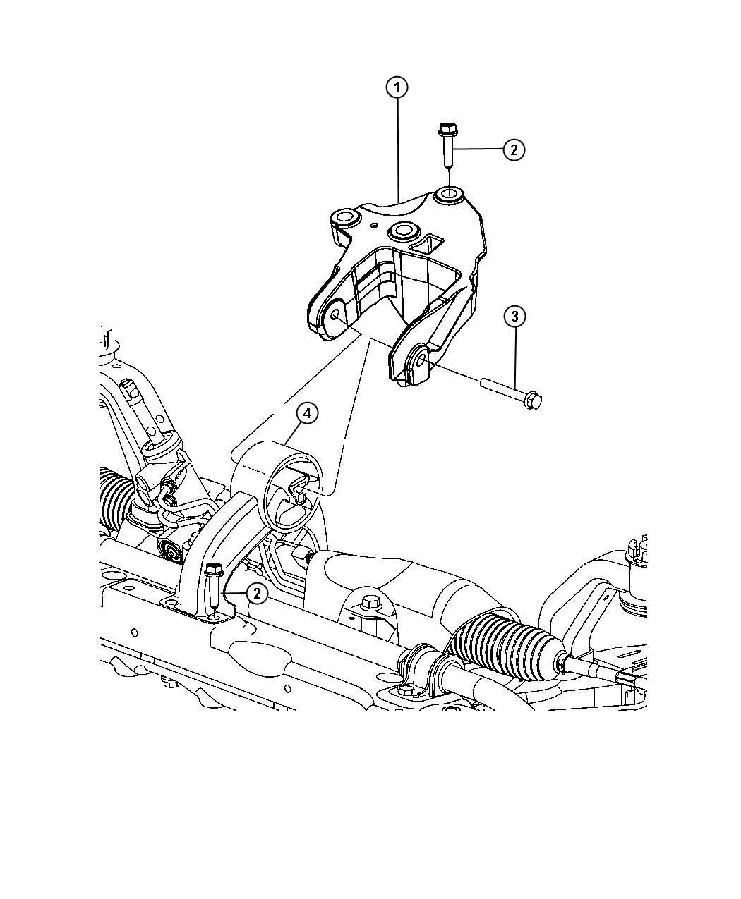 Dodge Journey Engine Mount Isolator Rear Front