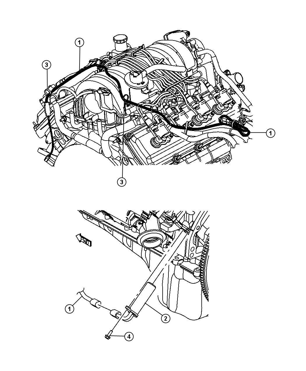 Chrysler Aspen Strap Tie Block Heater Cord Drain Tube