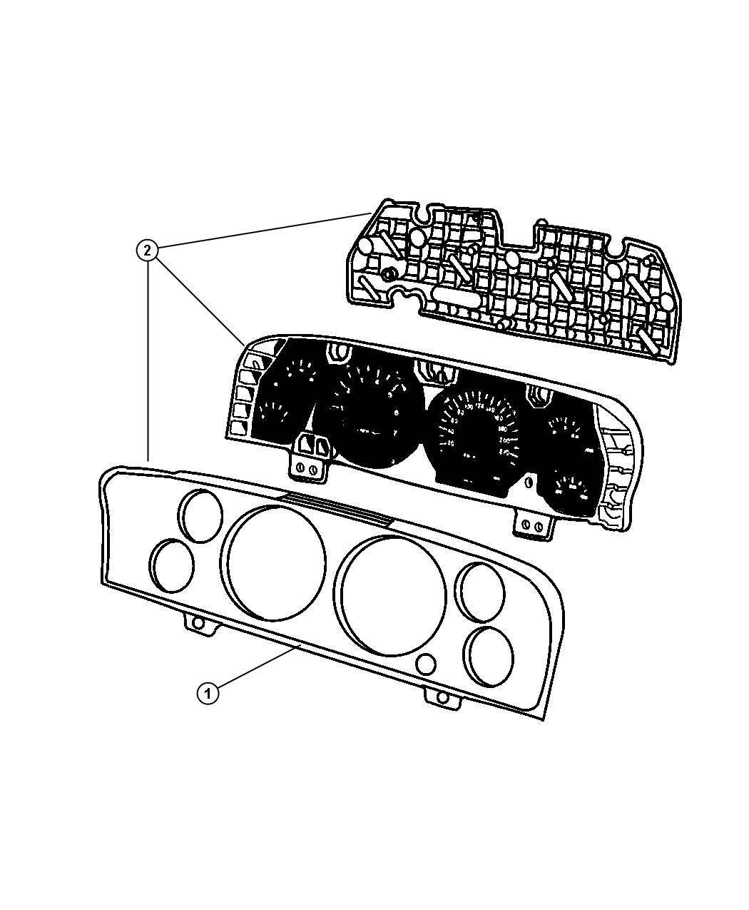Jeep Commander Cluster Instrument Panel 230 Kph Primary Speedometer