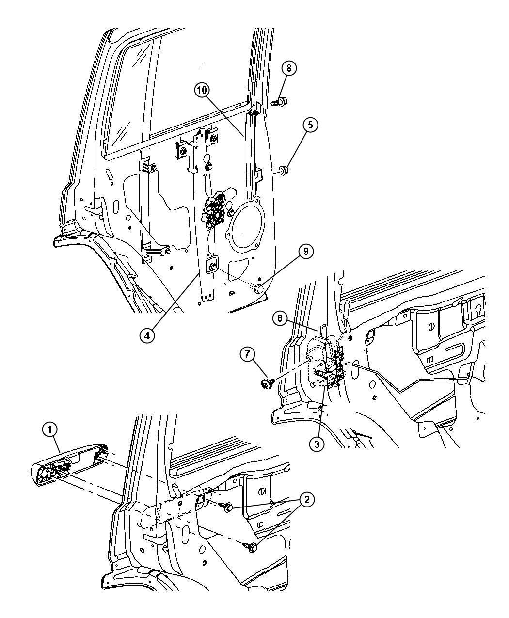 Jeep Commander Latch Rear Door Without Sales Code