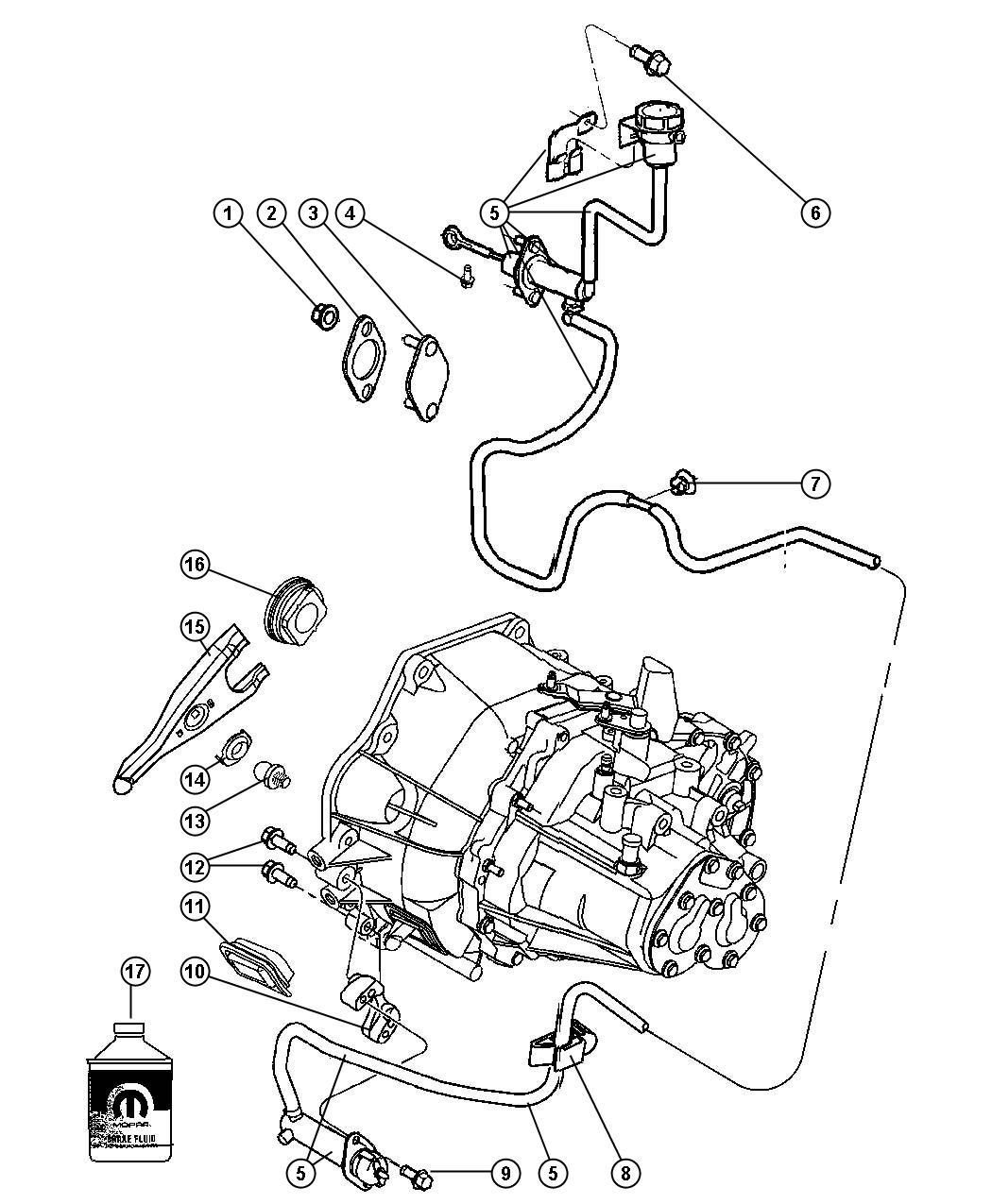 Chrysler Pt Cruiser Actuator Hydraulic Clutch Lhd