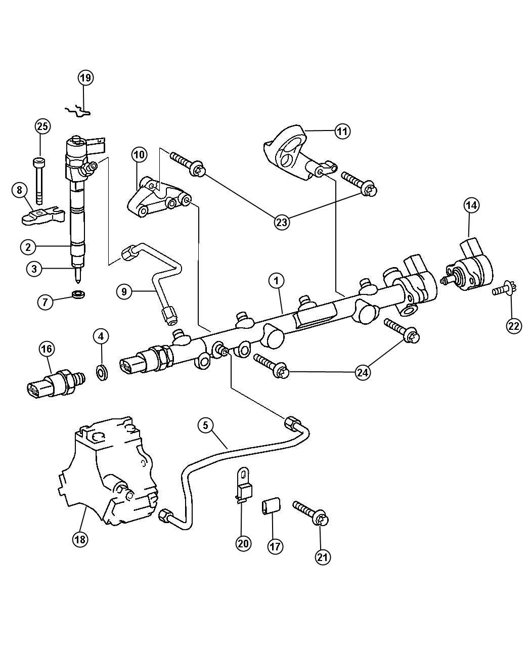 Dodge Sprinter Retainer Fuel Injector Nozzle