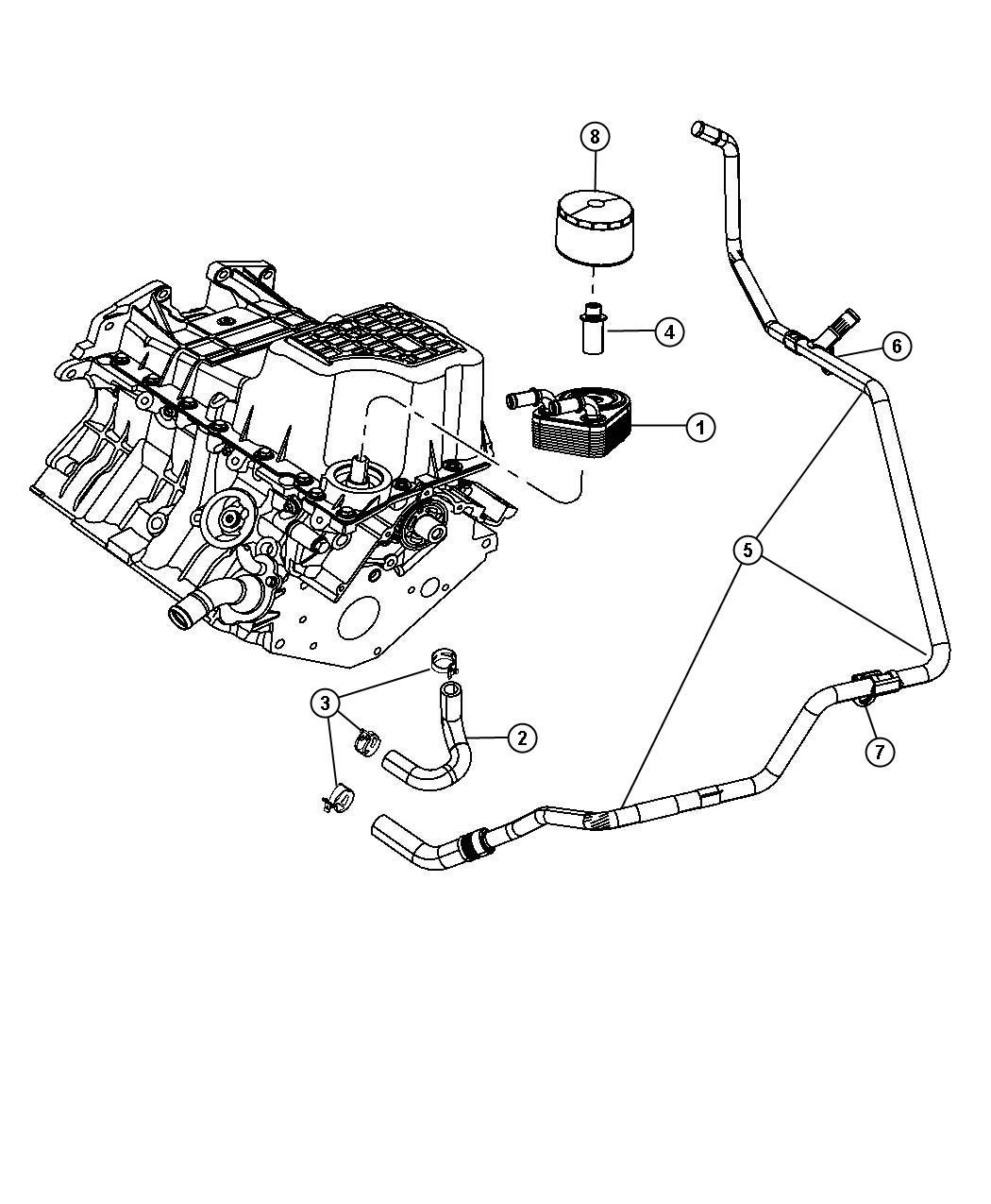 Dodge Grand Caravan Cooler Engine Oil Used On