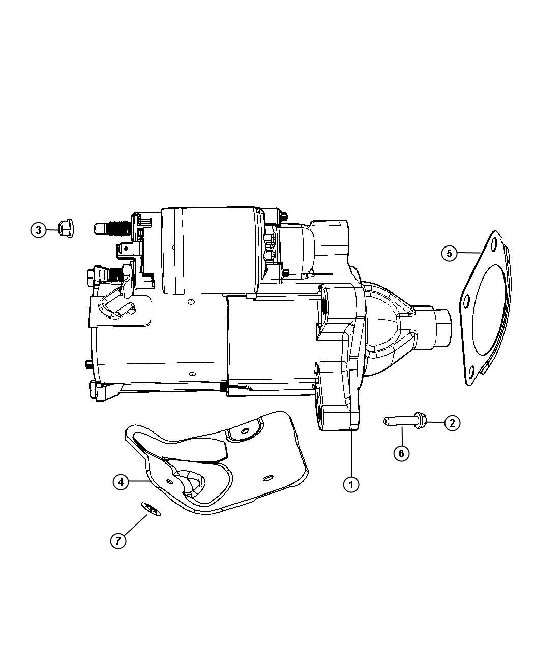 Jeep Wrangler Shield Starter Heat Starter Motor Up