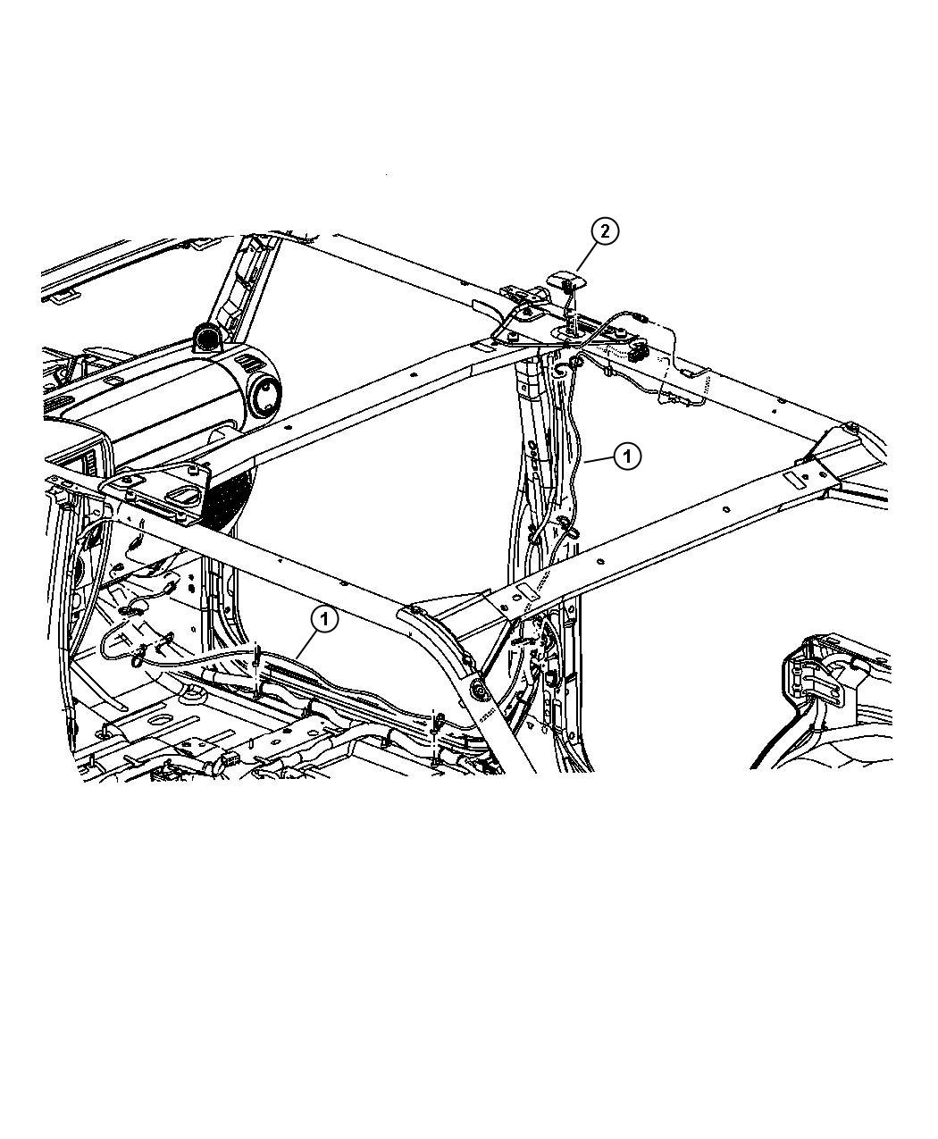 Jeep Wrangler Antenna Satellite After 11 25 06 Up To 11 25 06