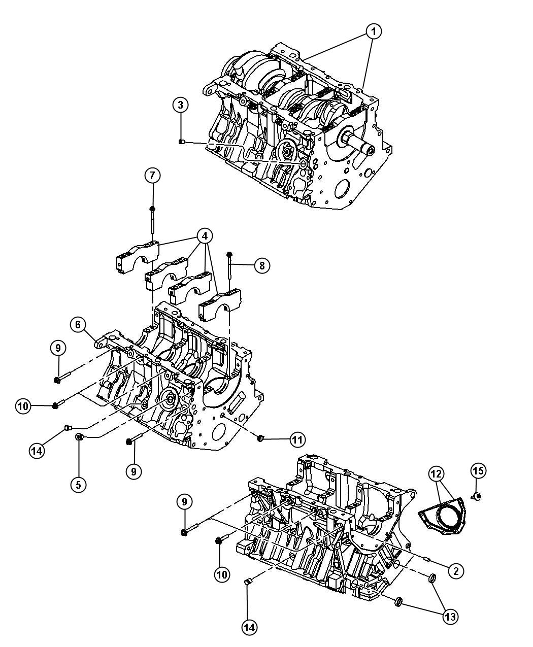 Dodge Nitro Bolt Bearing Cap Hex Flange Head M10x1