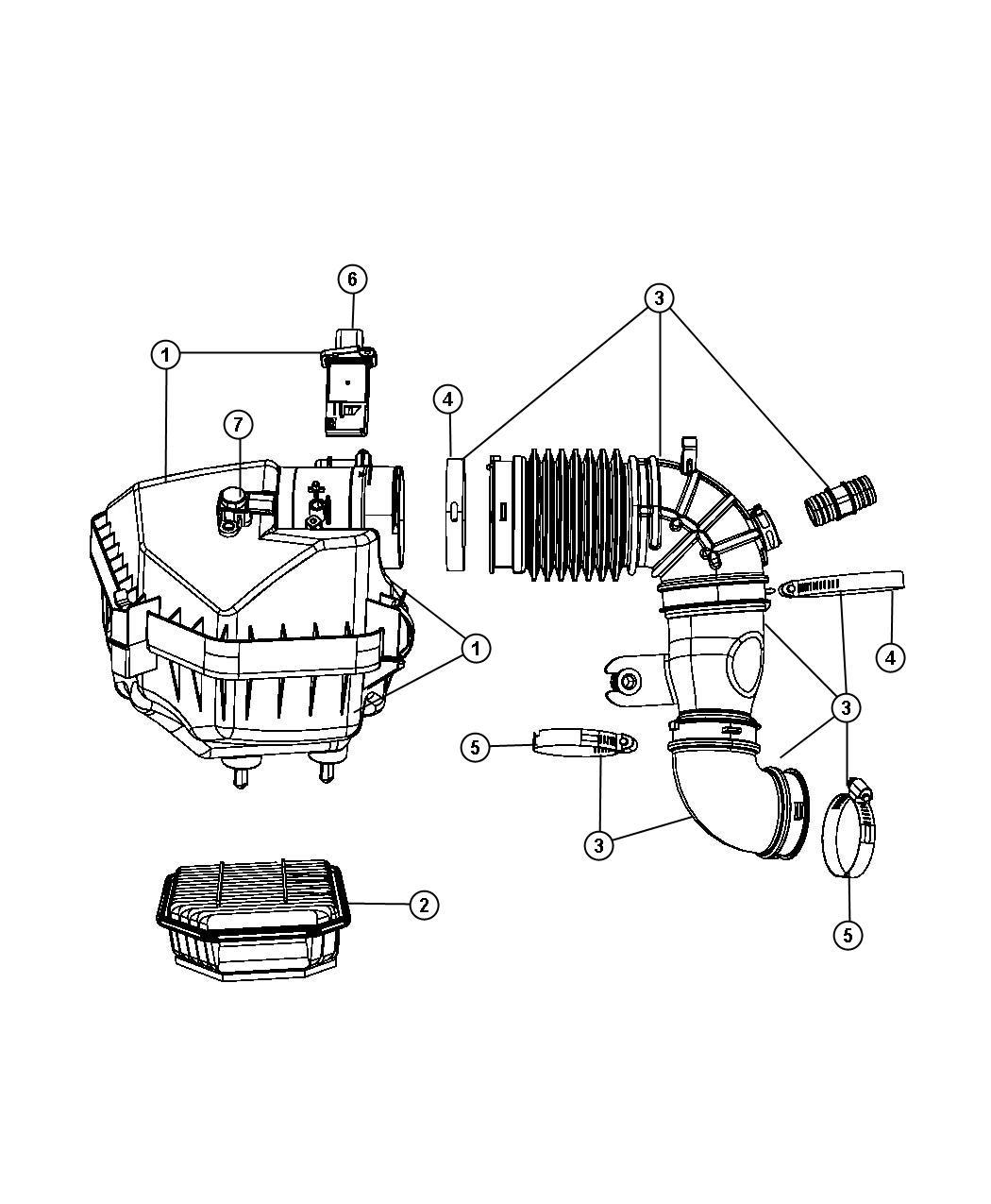 Jeep Patriot Sensor Air Pressure Map Right Merecedes
