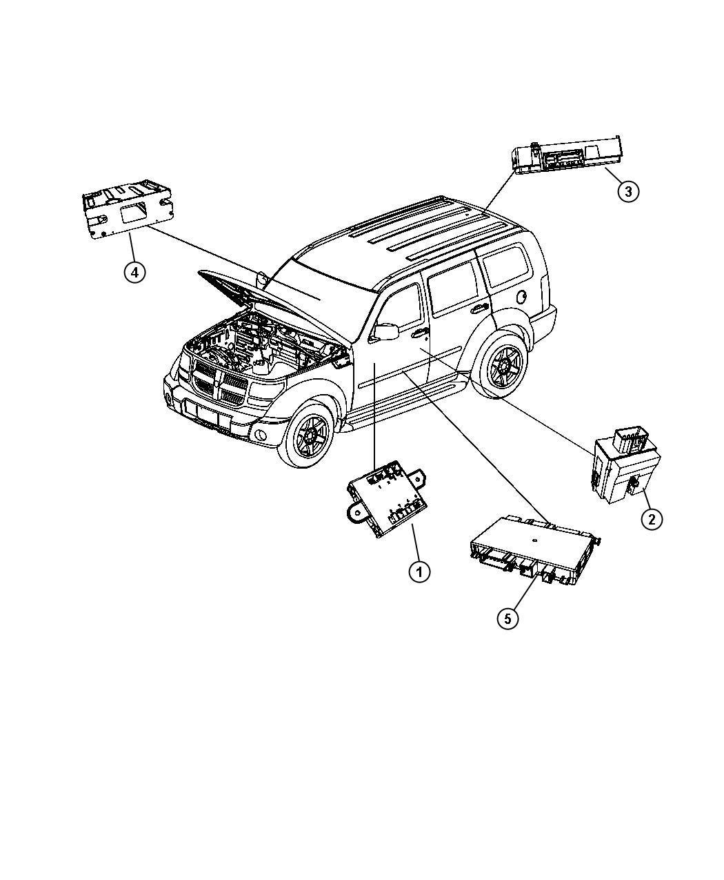 Jeep Compass Module Power Inverter Jps After 07