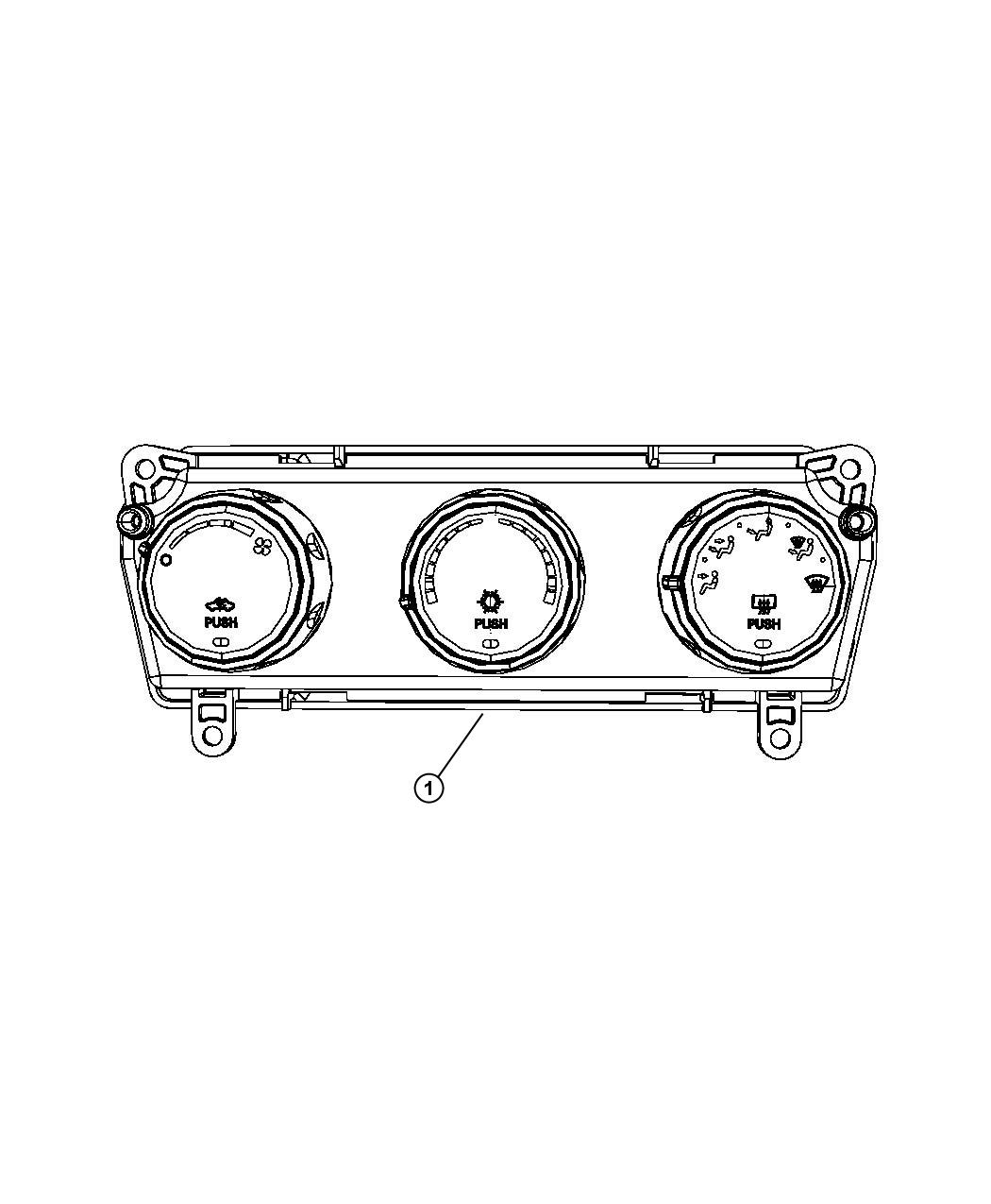 Jeep Liberty Control Used For A C And Heater Export