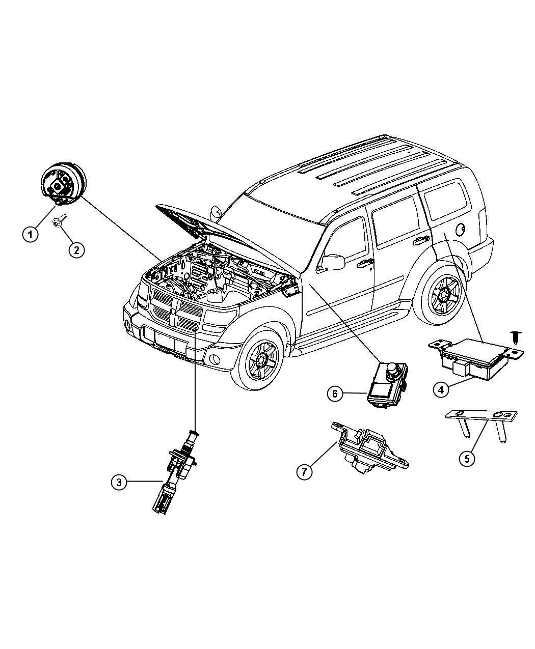 Dodge Nitro Transmitter Anti Theft Export Thatcham