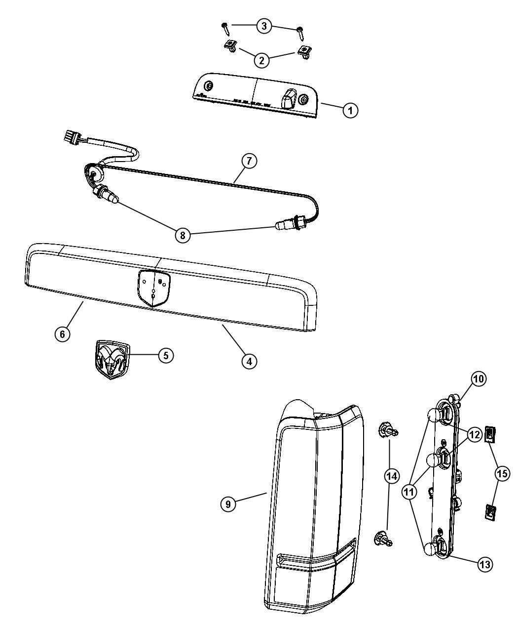 Dodge Nitro Push Pin Taillamp Ataching Rear
