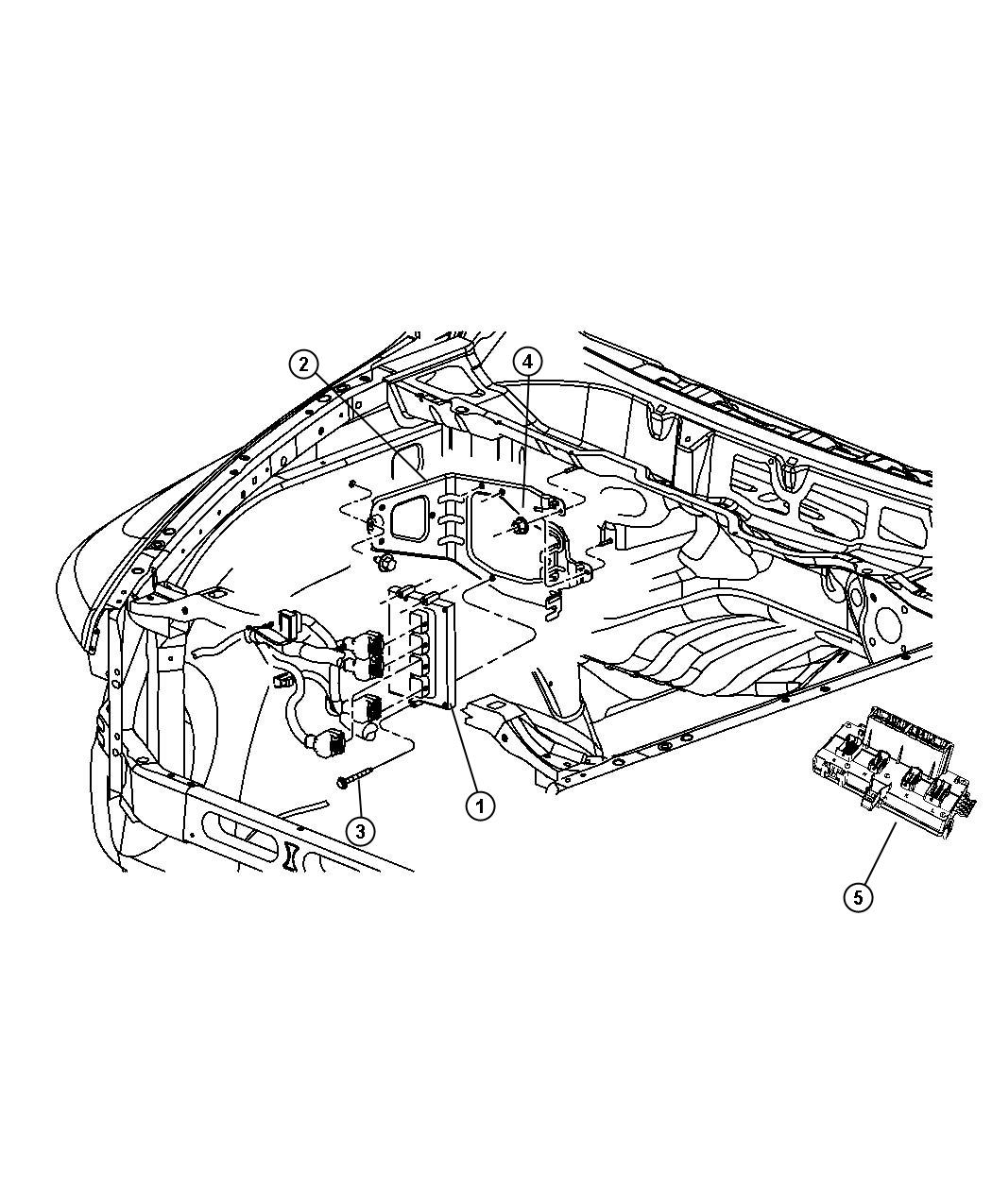 Dodge Ram Bracket Powertrain Control Module