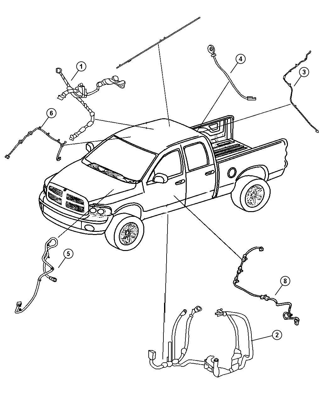 Dodge Ram Wiring Mirror Jumper Rear View
