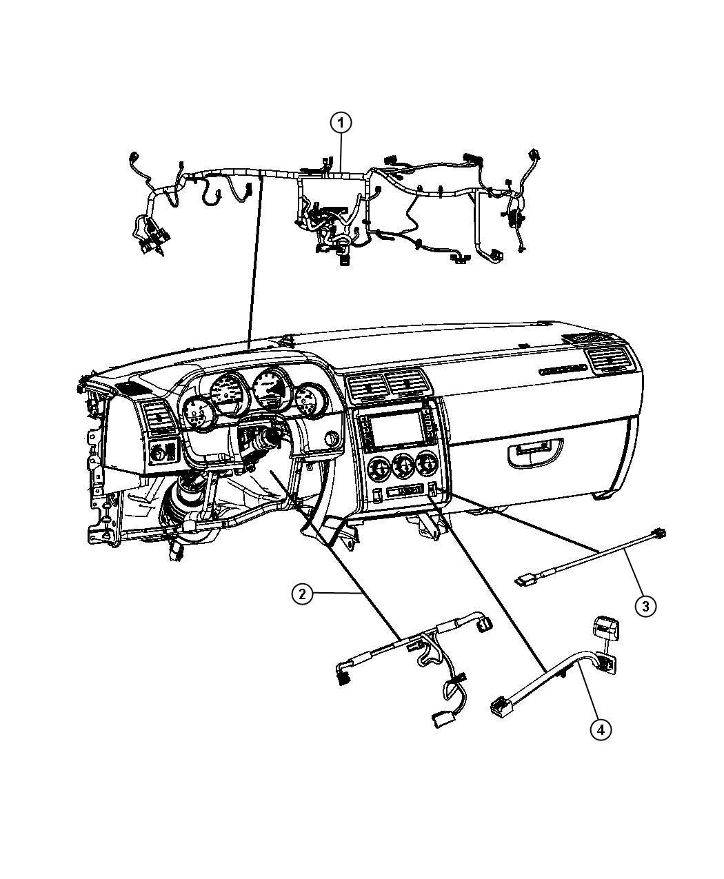 Dodge Challenger Wiring Instrument Panel Acoustics