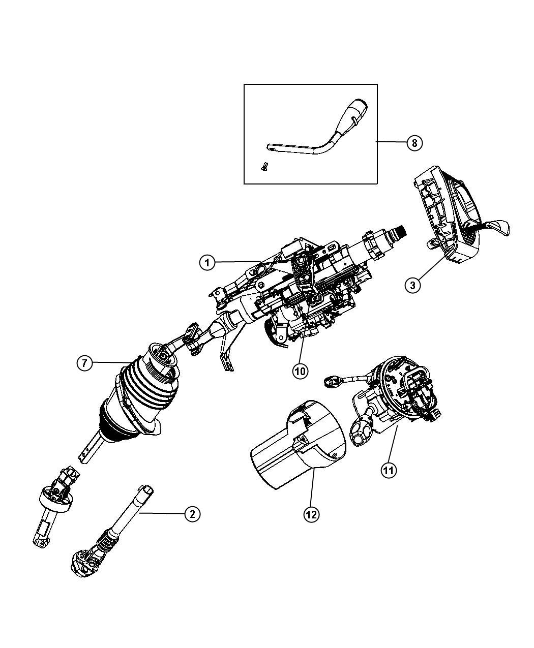 Dodge Charger Column Steering Tilt Module Shift