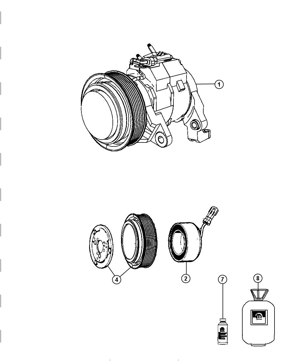 Dodge Ram Clutch Overhaul Kit A C Compressor Air