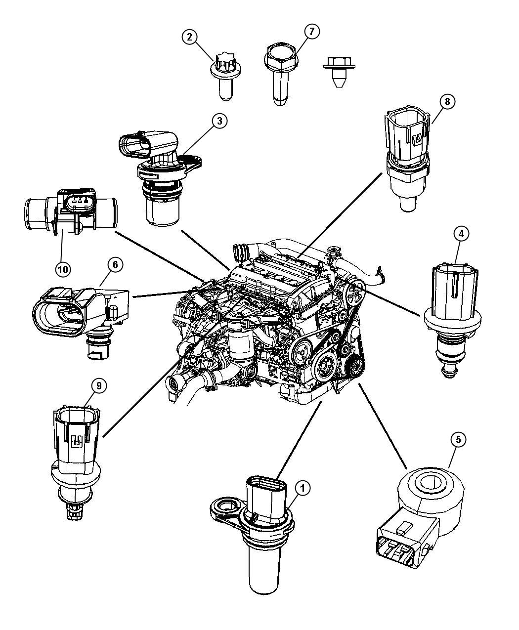Dodge Viper Sensor Crankshaft Position Vehicle