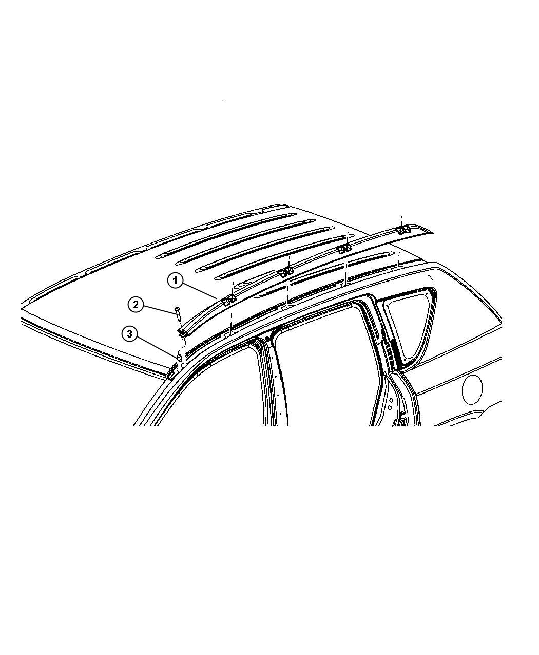 Jeep Compass Knob Roof Rack Adjustable Roof Rail