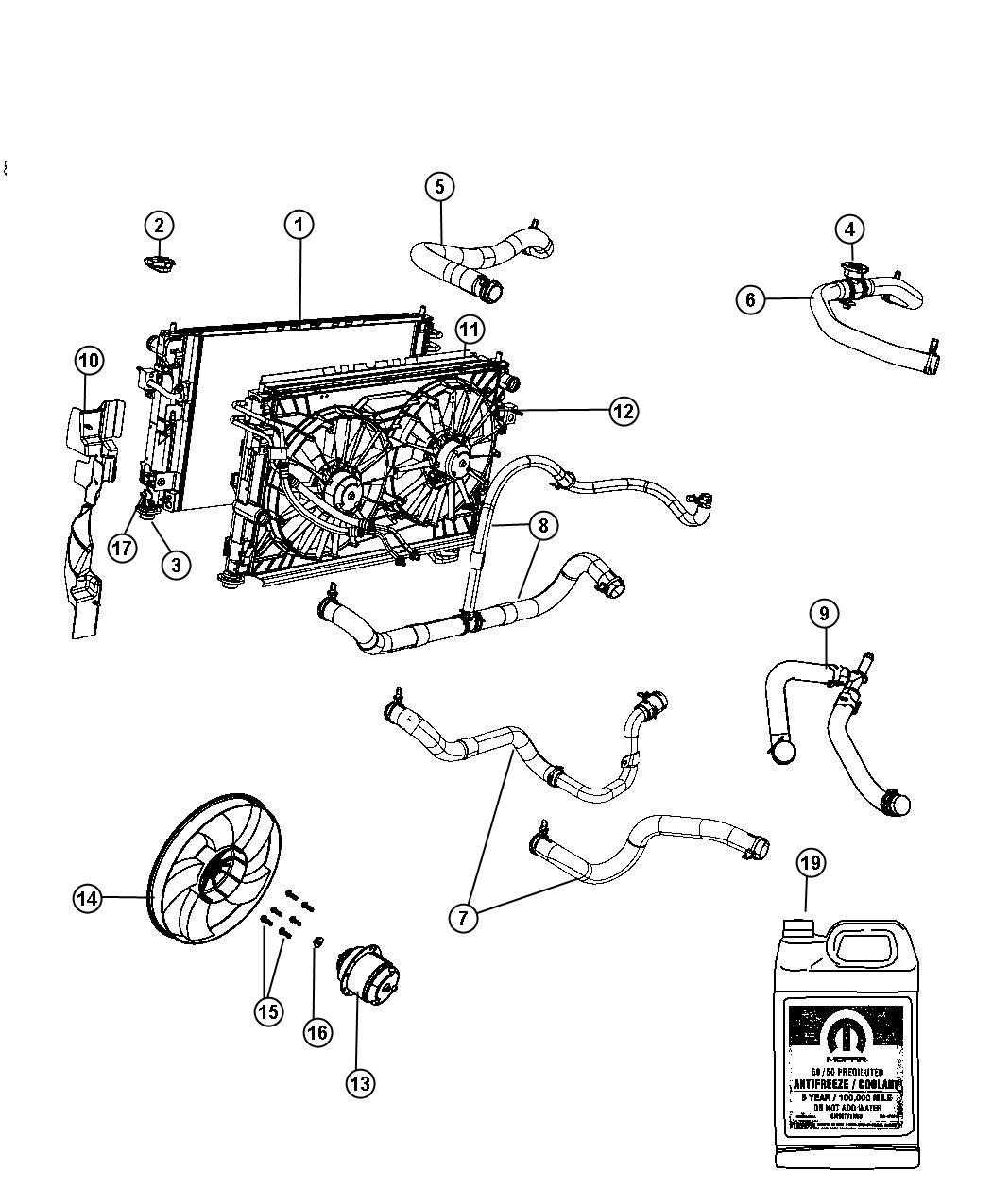 Chrysler Sebring Hose Radiator Inlet Maintenance