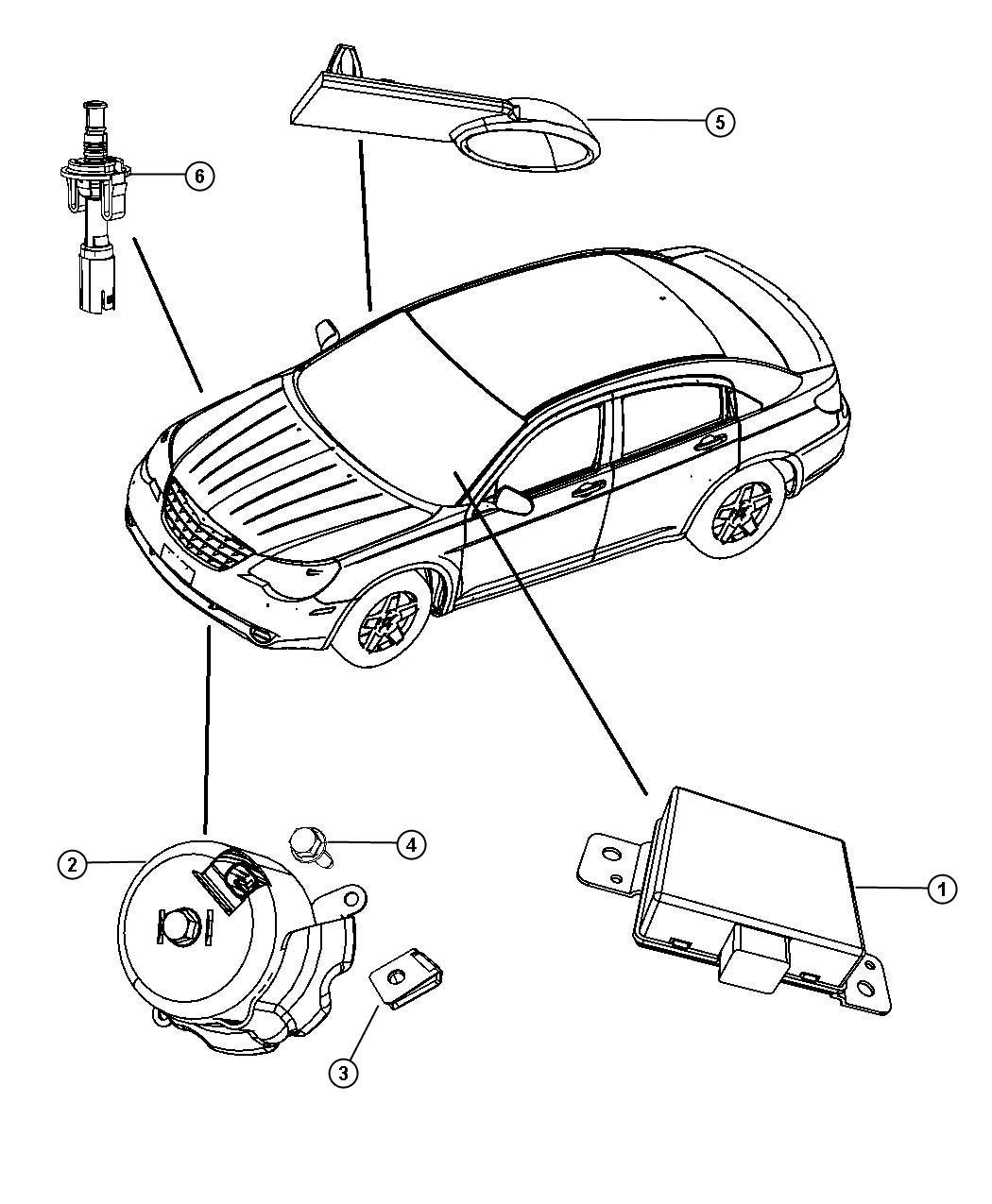 Dodge Avenger Switch Underhood Alarm Export Front