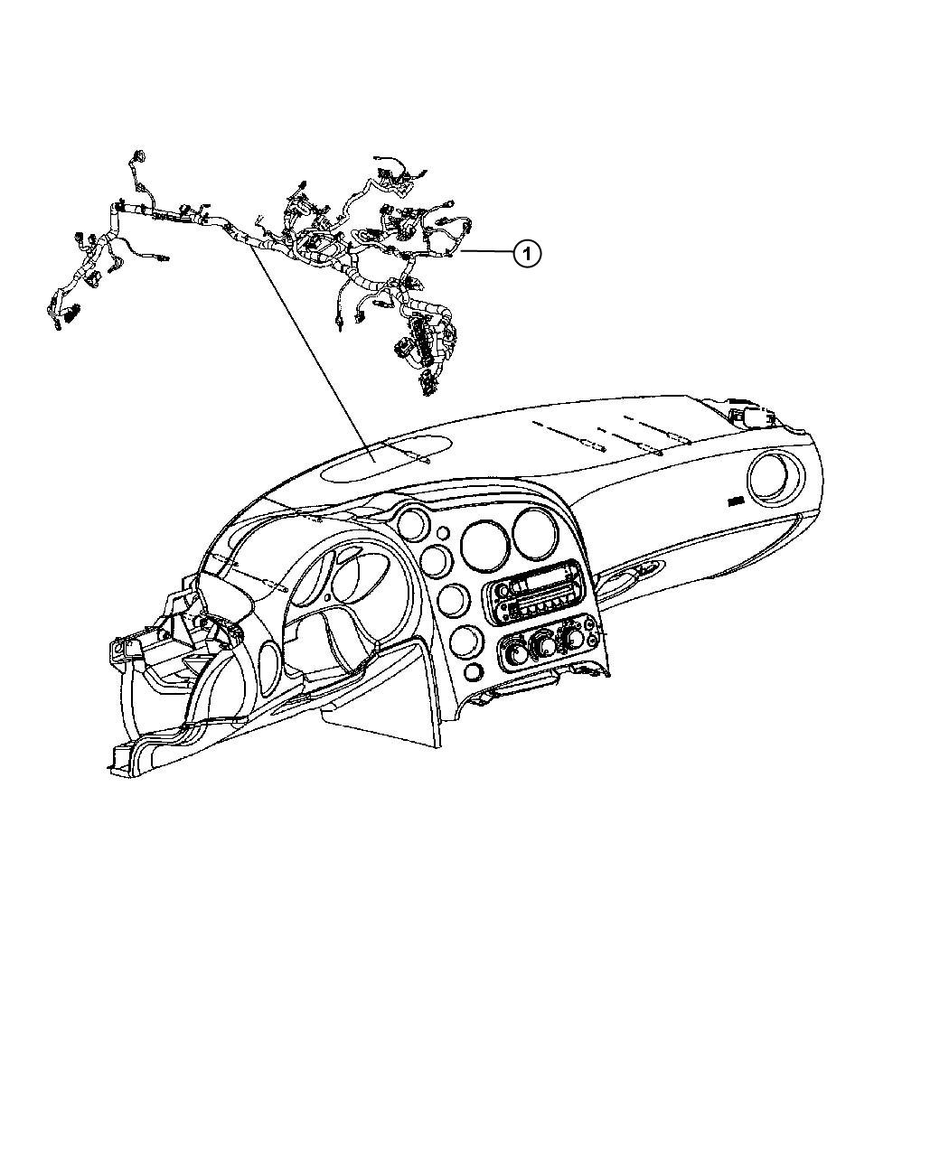 Dodge Viper Wiring Instrument Panel Trim All Trim