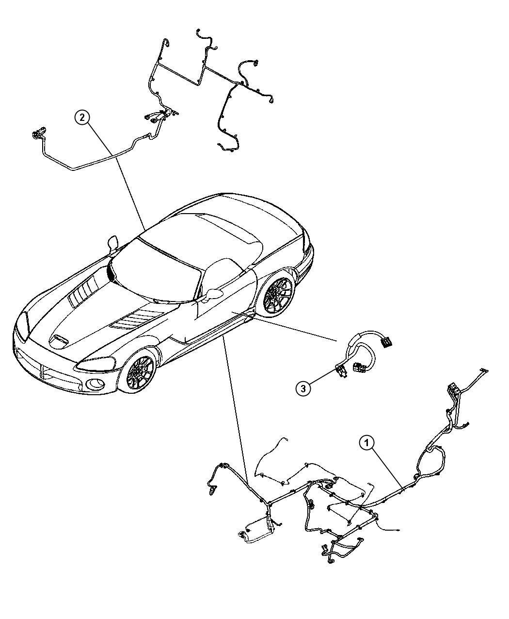 Dodge Viper Wiring Body Right