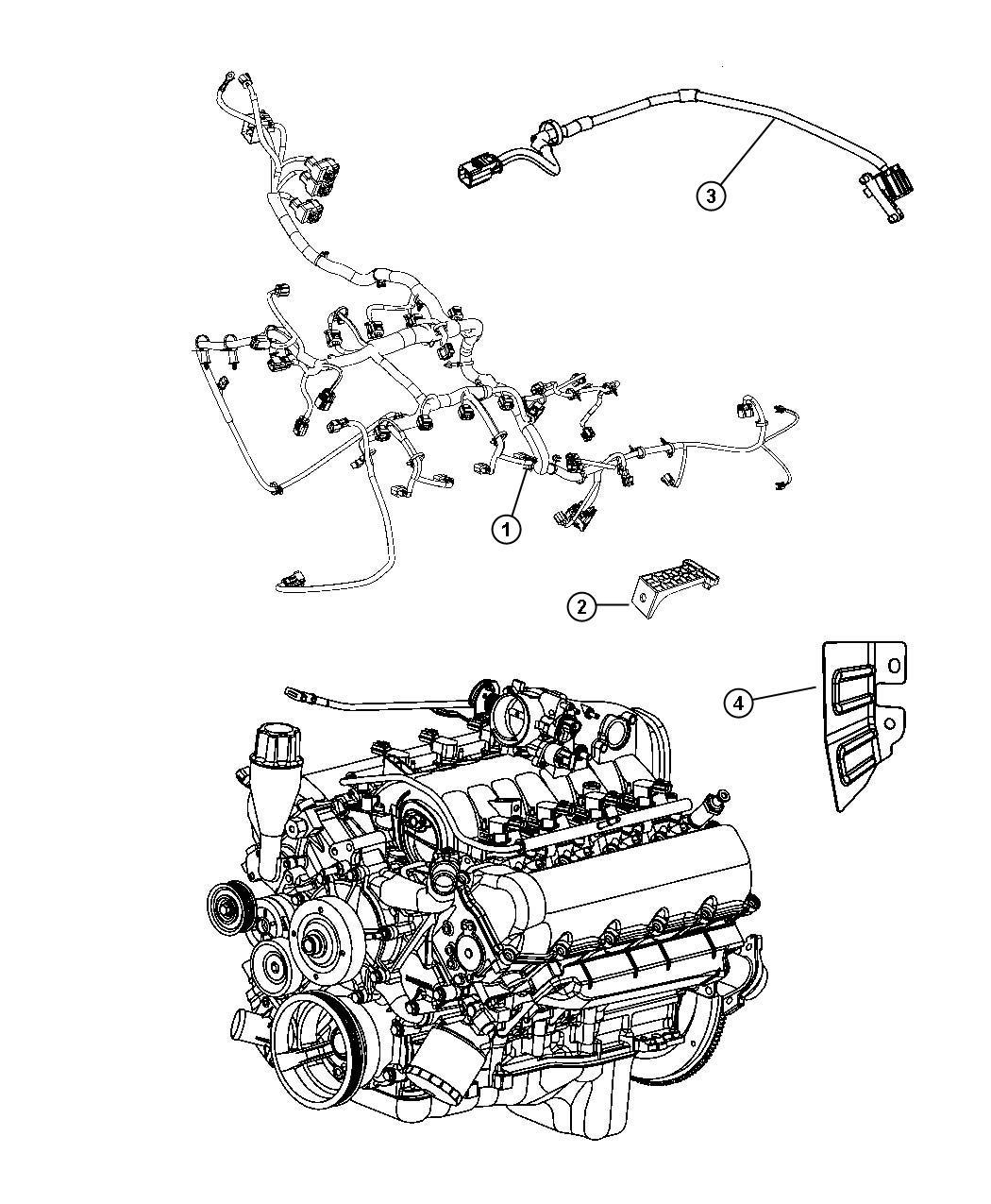 Dodge Ram Wiring Engine Powertrain Mopar Gas