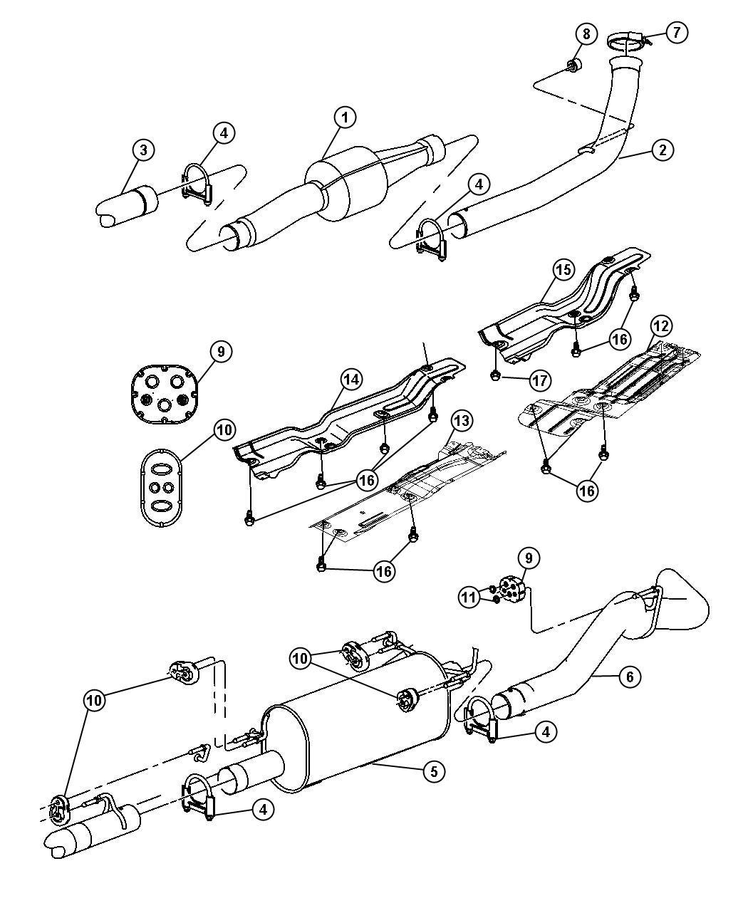 Dodge Ram Shield Exhaust Extension Pipe Heat