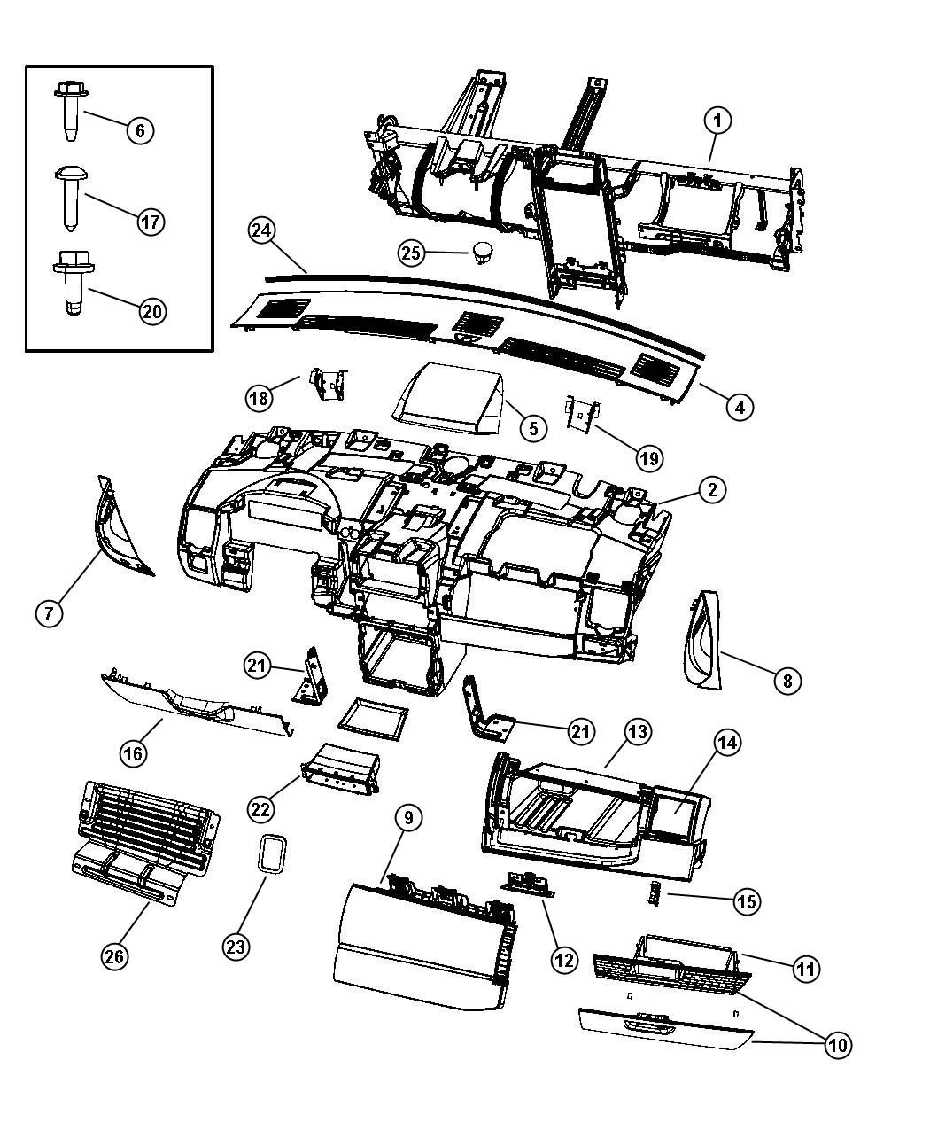 Dodge Grand Caravan Cover Steering Column Ds Vs