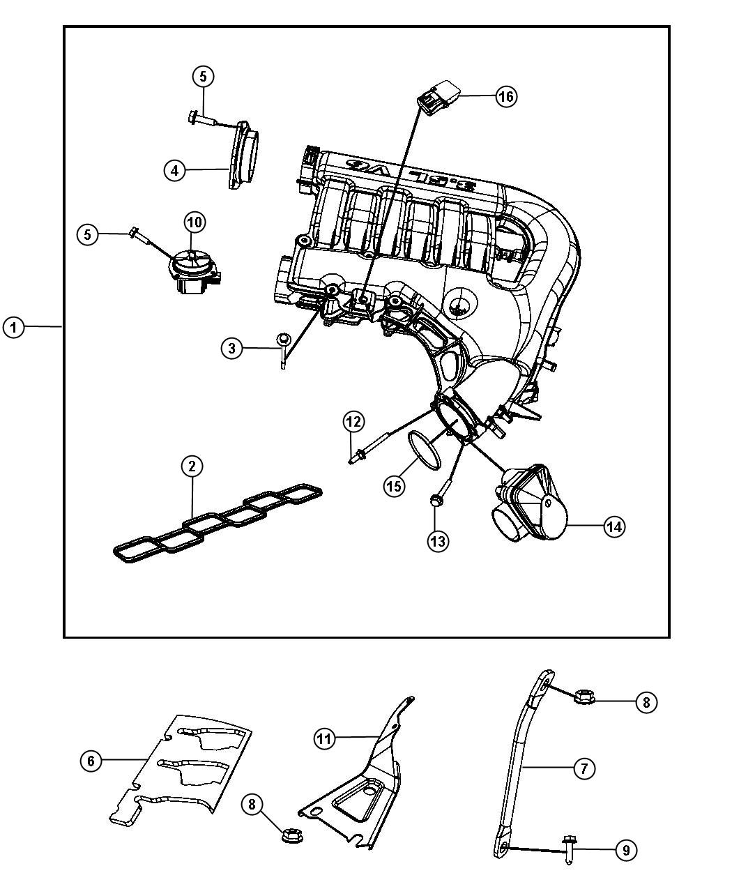 Dodge Challenger Throttle Body Intake Manifold Plenum
