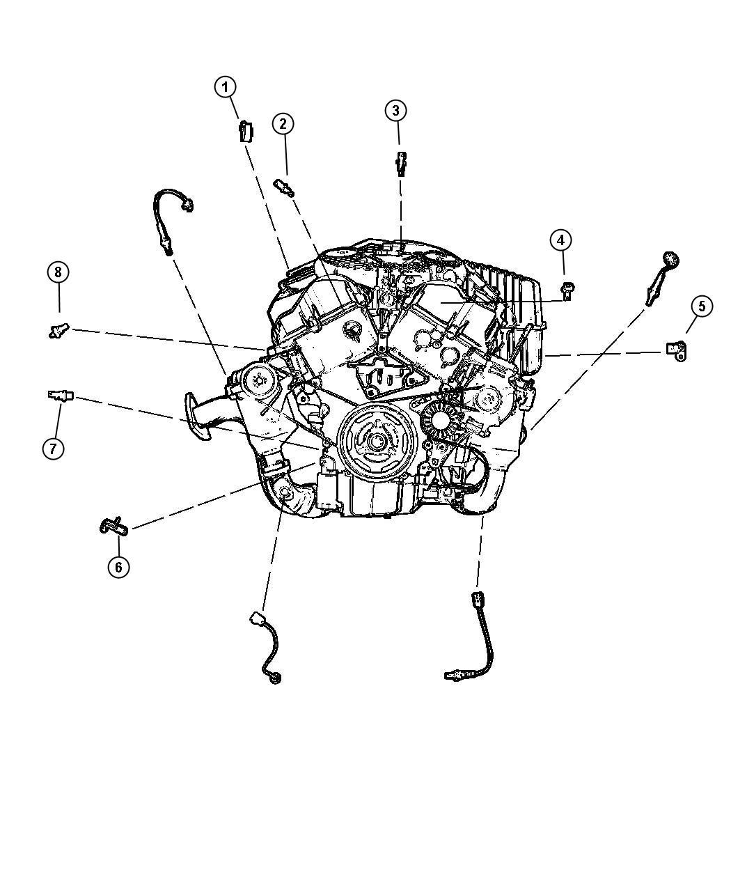 Dodge Challenger Sensor Camshaft Electronic Gas