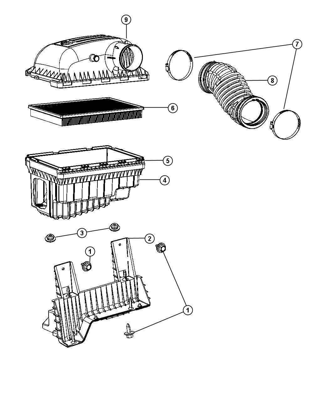 Dodge Ram Element Filter Air Air Cleaner Export