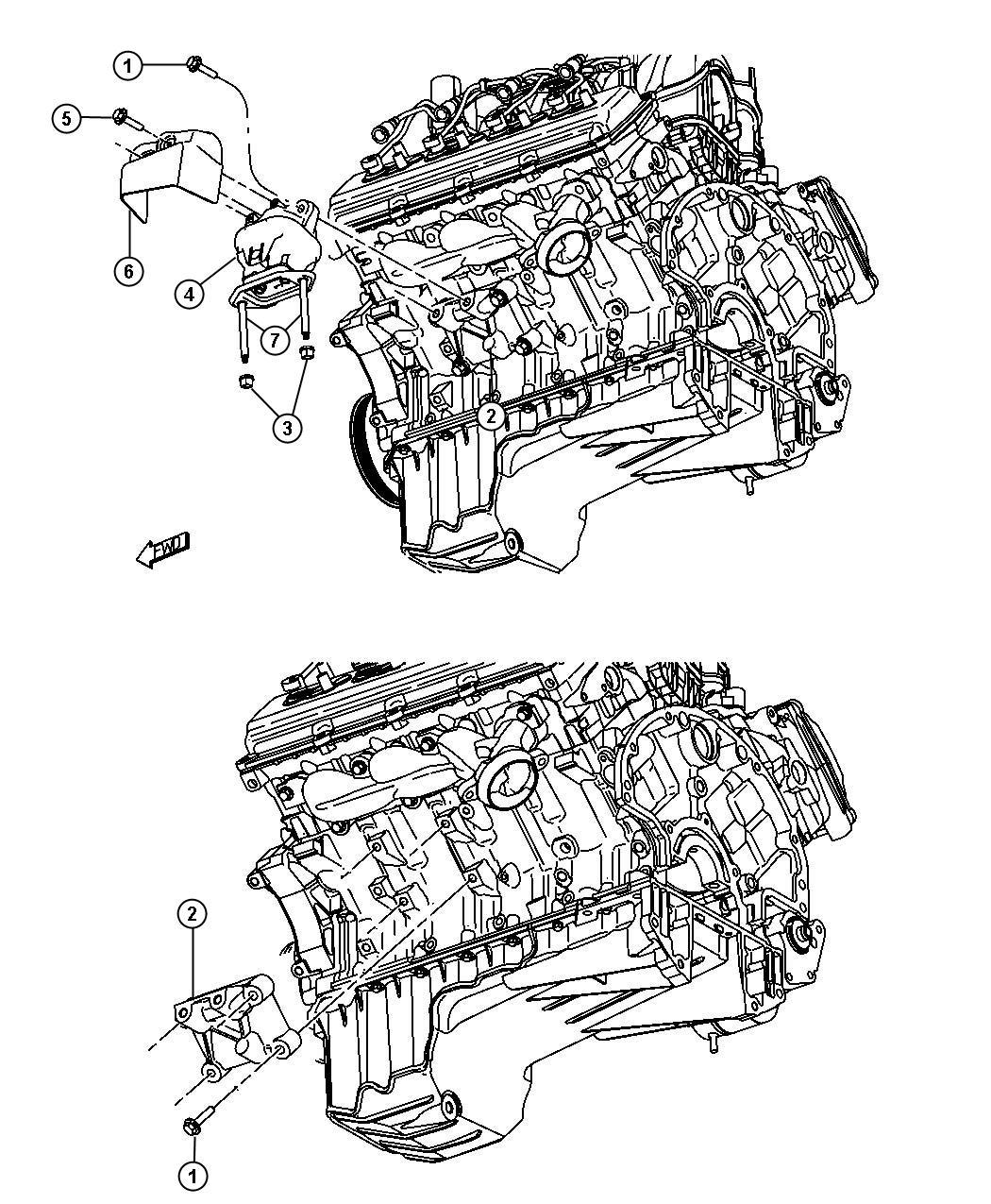 Dodge Challenger Insulator Engine Mount Left Side Right