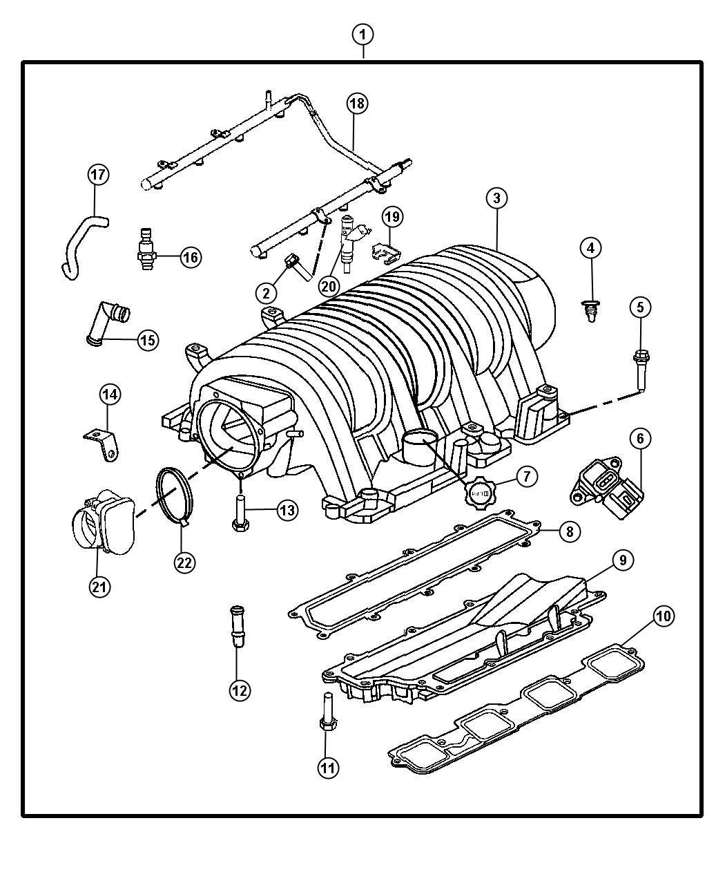 Chrysler 300 Manifold Intake Engine Hemi