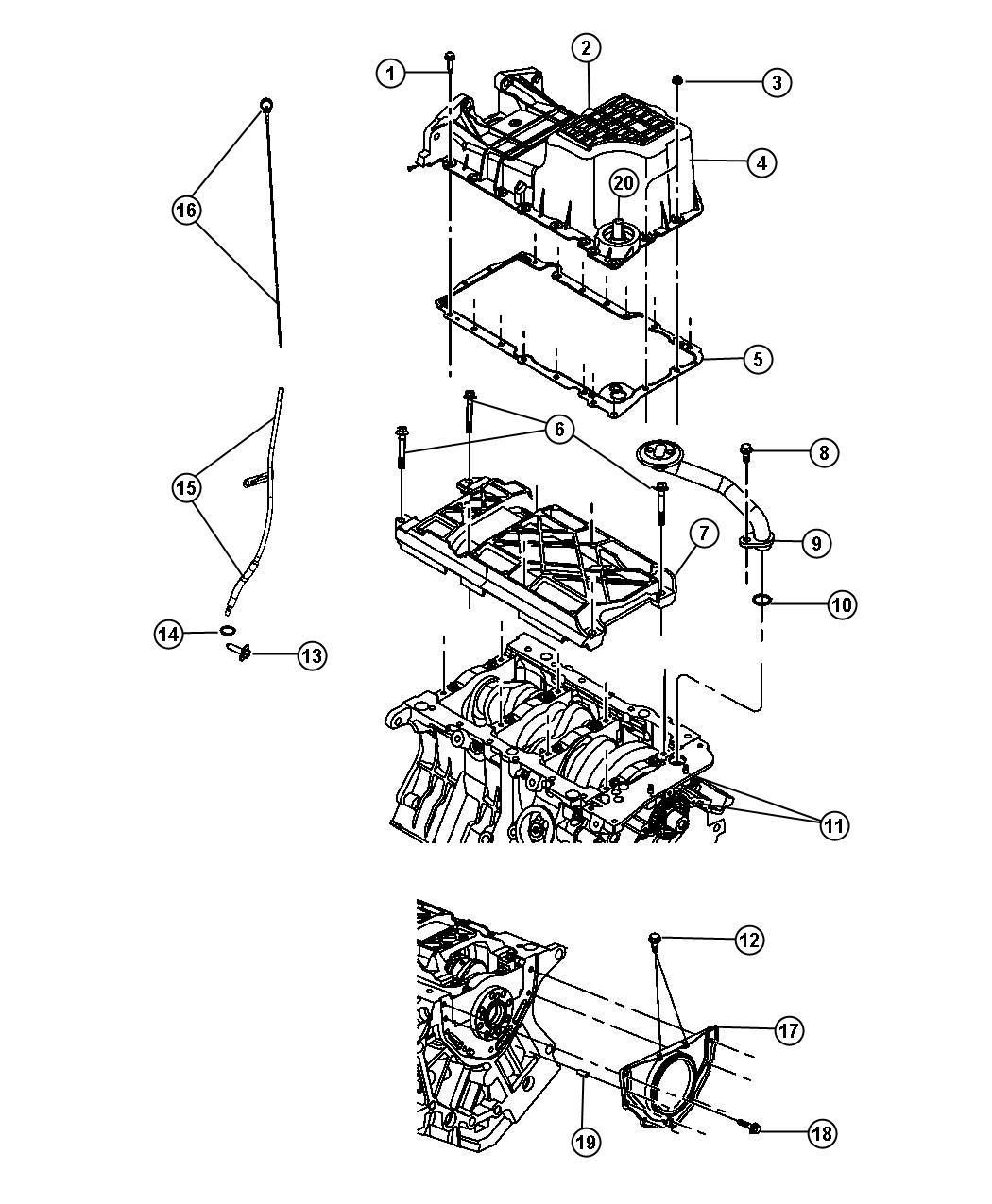 Chrysler 300 Pan Oil All Wheel Drive Engine